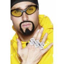 Dollár rapper gyűrű 3 db/csomag