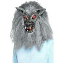 Szőrös farkasember maszk