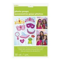 Vicces Hercegnős Kiegészítő Szett Fotózáshoz - 10 db-os