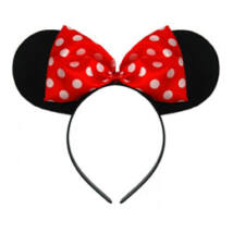 Minnie Mouse Fejdísz Piros Pöttyös Masnival