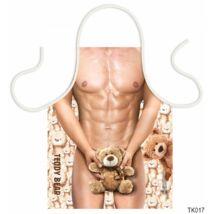 Teli mintás kötény 50 cm x 70 cm - Teddy Bear – Szexi Kötény Férfiaknak