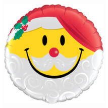 18 inch-es Mosolygó Mikulás - Smile Face Santa Fólia Léggömb