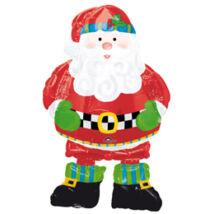 Whimsical Santa Sétáló (Airwalkers) Télapós Fólia Léggömb