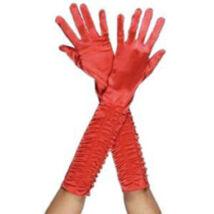 Csábító Női Hosszú Piros Kesztyű