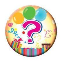 Kérdőjel Színes Születésnapi Kitűző - 5,5 cm