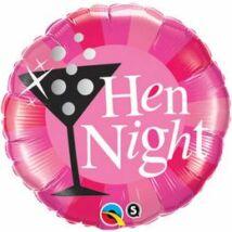 18 inch-es Hen Night! Rózsaszín Fólia Léggömb Lánybúcsúra