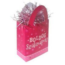 Boldog Szülinapot Rózsaszín Lányos Ajándéktasak Léggömbsúly