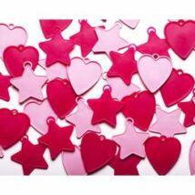 Rózsaszín Szíves és Csillagos Léggömbsúly