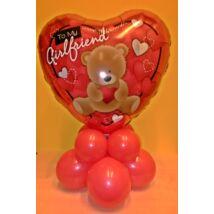 Valentin szívecskés macis dekoráció