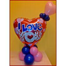 Valentin duplaszíves dekoráció
