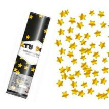 20 cm-es, Arany Csillag Alakú Konfetti Fóliákat Kilövő Konfetti Ágyú