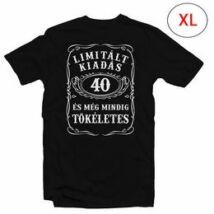 40-es Limitált Kiadás Számos Szülinapi Póló, XL-es