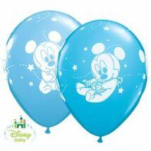 11 inch-es Baby Mickey Stars Pale Blue & Robin's Egg Blue Lufi