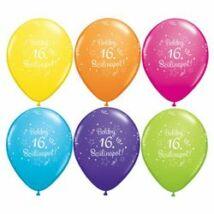 11 Inch-Es Boldog 16. Szülinapot Feliratú Shi. St. Ast. Szülinapi Lufi