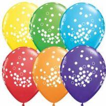 11 inch-es Confetti Dots Bright Rainbow Lufi