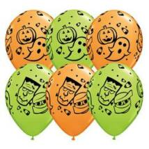 11 inch-es Halloween Fun! Orange & Lime Green Lufi