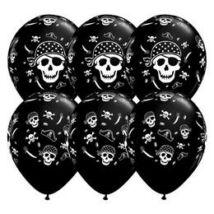 11 inch-es Pirate Skull & Cross Bones Onyx Black Lufi