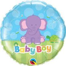 18 inch-es Baby Boy Elephant Fólia Lufi