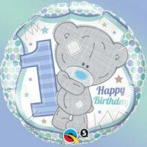 18 inch-es Macis - Tatty Teddy Birthday 1st Csillagos Szülinapi Fólia Lufi
