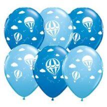 11 inch-es Hot Air Balloons - Léghajó Dark & Pale Blue Lufi Babaszületésre