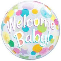 22 inch-es Welcome Baby Bubbles Lufi Babaszületésre
