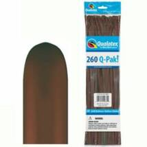 260Q Chocolate Brown (Fashion) Q-Pak Party Modellező Lufi
