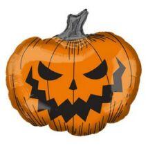 29 inch-es Ijesztő Tök Super Shape Fólia Lufi Halloween-re
