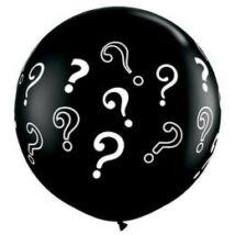 3 feet-es Question Marks Onyx Black Lufi