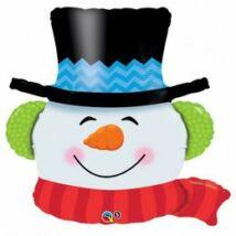 36 inch-es Mosolygós Hóember - Smilin Snowman Fólia Lufi