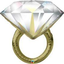 Esküvői Lufi 37 inch-es Diamond Wedding Ring Esküvői Fólia Lufi