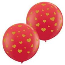 3 feet-es Random Hearts-a-rnd Red Lufi