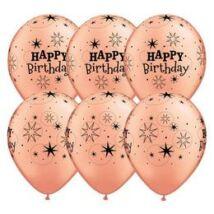 11 inch-es Birthday Sparkle Rosegold Szülinapi Lufi