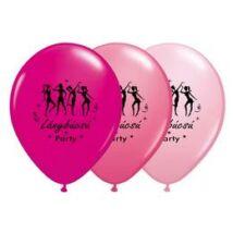 11 inch-es Táncolós Lánybúcsú Party Assorted Feketével Lufi