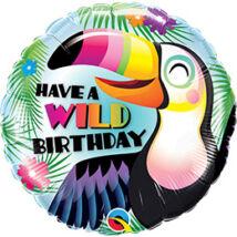 18 inch-es Have a Wild Birthday - Tukán Szülinapi Fólia Lufi