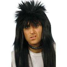 Fekete hosszú punk paróka