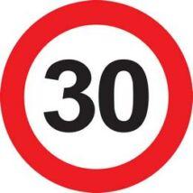 30-as Sebességkorlátozó Születésnapi Tábla - 40 cm