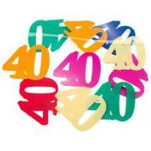 40-es XL Méretű Számos Születés Konfetti
