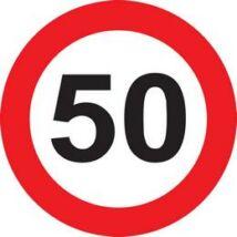 50-es Sebességkorlátozó Születésnapi Tábla - 40 cm