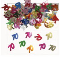 70-es számos színes konfetti-14 gramm