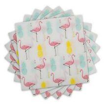 Flamingó és Ananász Mintás Szalvéta - 33 cm x 33 cm, 20 db-os