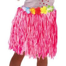 Hawaii Party Rózsaszín Fűszoknya Gyerekeknek - 30 cm
