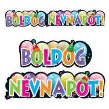 Boldog Névnapot Feliratos Party Banner - 148 cm x 27 cm