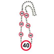 40-es Sebességkorlátozó Számos Születésnapi Party Nyaklánc
