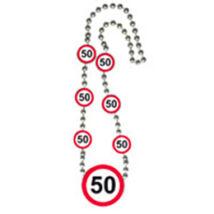 50-es Sebességkorlátozó Számos Születésnapi Party Nyaklánc