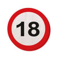 18-as Számos Sebességkorlátozó Születésnapi Party Szalvéta - 30 cm, 20 db-os