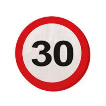 30. Számos Sebességkorlátozó Születésnapi Party Szalvéta - 30 cm, 20 db-os