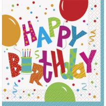 Birthday Jamboree Születésnapi Party Szalvéta - 33 cm x 33 cm, 16 db-os