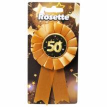 50. Születésnapi Kitűző, Fekete-Arany