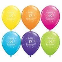11 inch-es Boldog 13. szülinapot számos Születésnapi Lufi