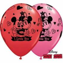 11 inch-es Mickey & Minnie I Love You szerelmes léggömb